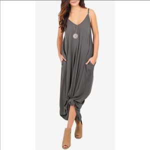NWT Charcoal Gray Maxi Dress XL Couture Gypsy
